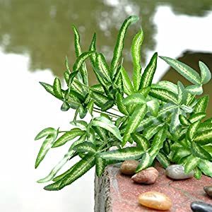 FYYDNZA New Green Fern Leaf Artificial Plants Plastic Flowers For Home Wedding Decoration 99