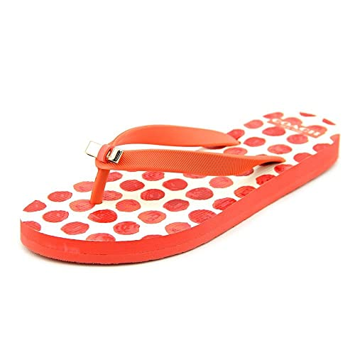 dfaa90dac413 Coach Amel Flip Flop in Cerise Orange (Size 6)