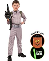 Ghostbusters Boys Costume Halloween Trick or Treat Safety Kit