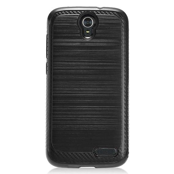brand new b7161 c3f0d Phone Case for ZTE ZMAX-Grand LTE, ZTE ZMAX-Champ 4G LTE (Total Wireless)  Case, Warp 7 (Boost Mobile)/ ZTE Grand X 3 (Cricket Wireless) Metallic  Brush ...