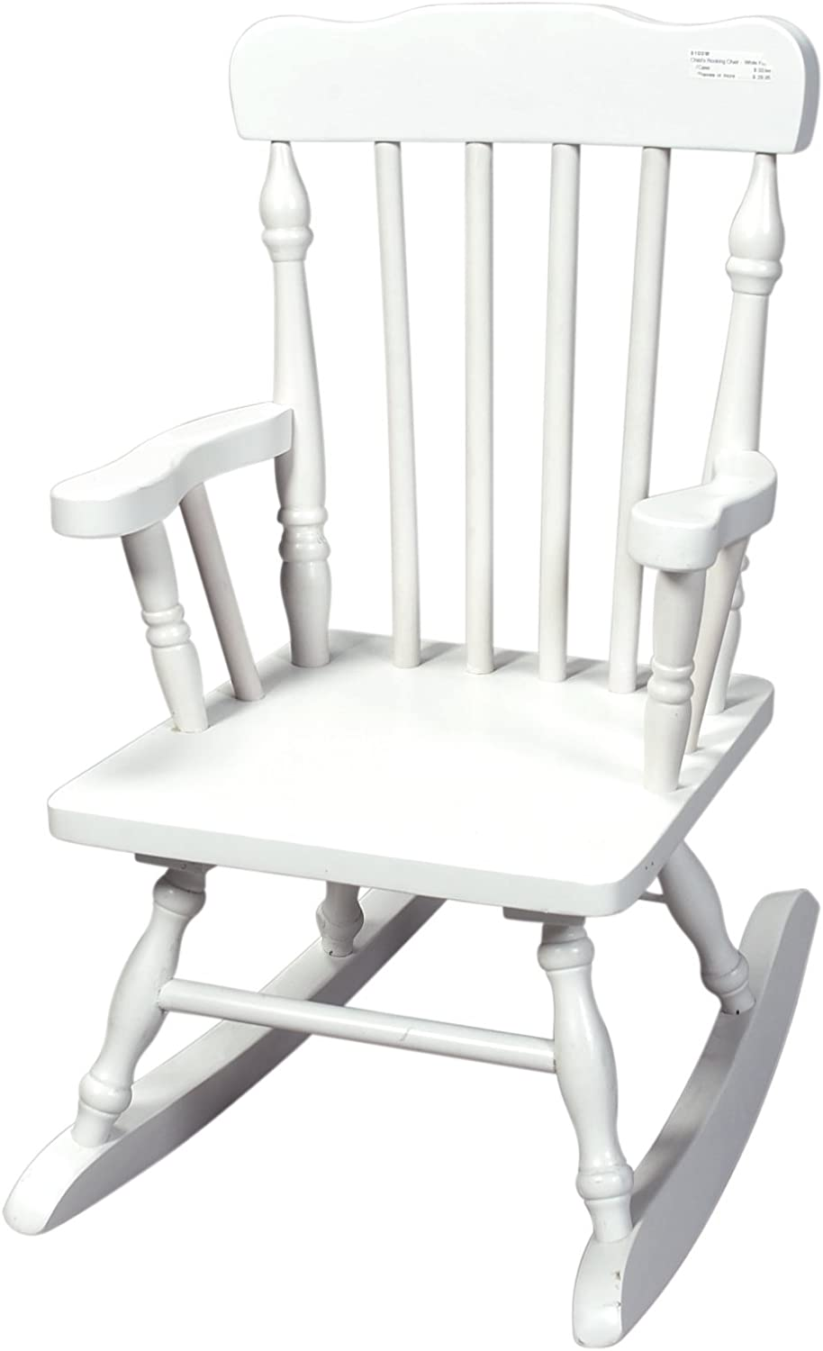 Renewed Grey Gift Mark Childs Spindle Rocking Chair