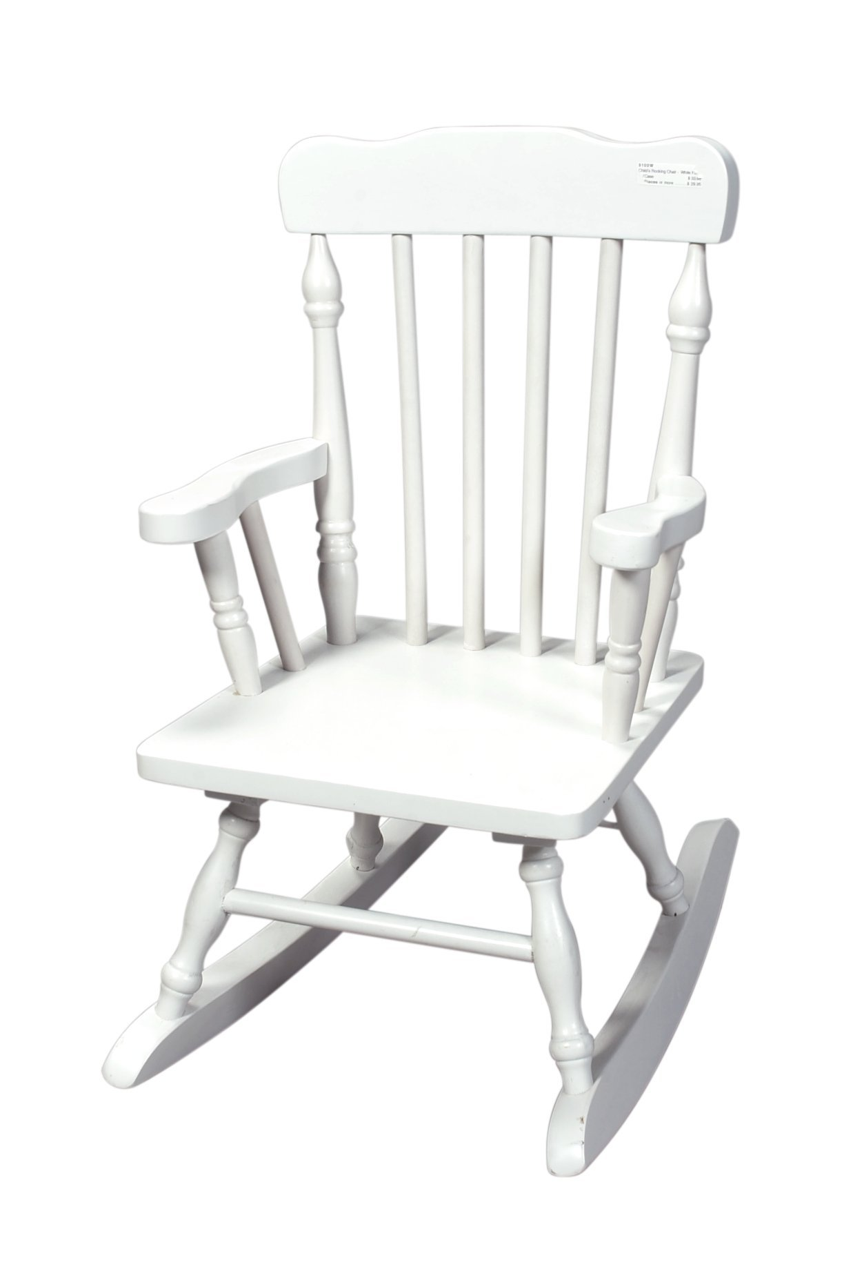 Gift Mark Child's Colonial Rocking Chair, White by Gift Mark
