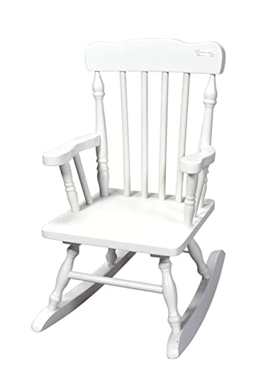 Gift Mark Childu0027s Colonial Rocking Chair, White