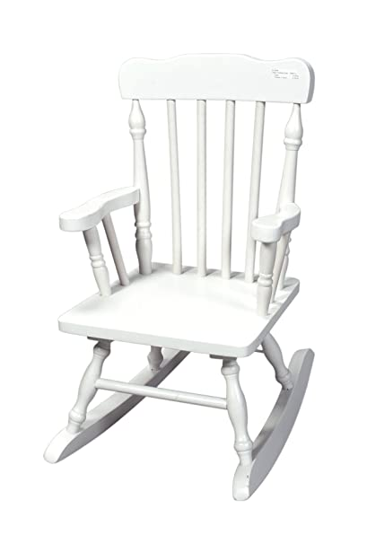 Amazon Com Gift Mark Child S Colonial Rocking Chair White Kitchen