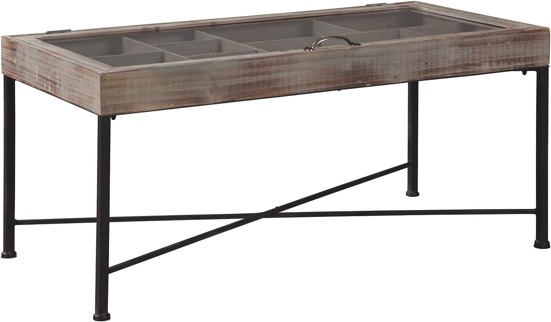 Ashley Furniture Signature Design - Shellmond Accent Cocktail Table - Casual - Antique Gray/Black