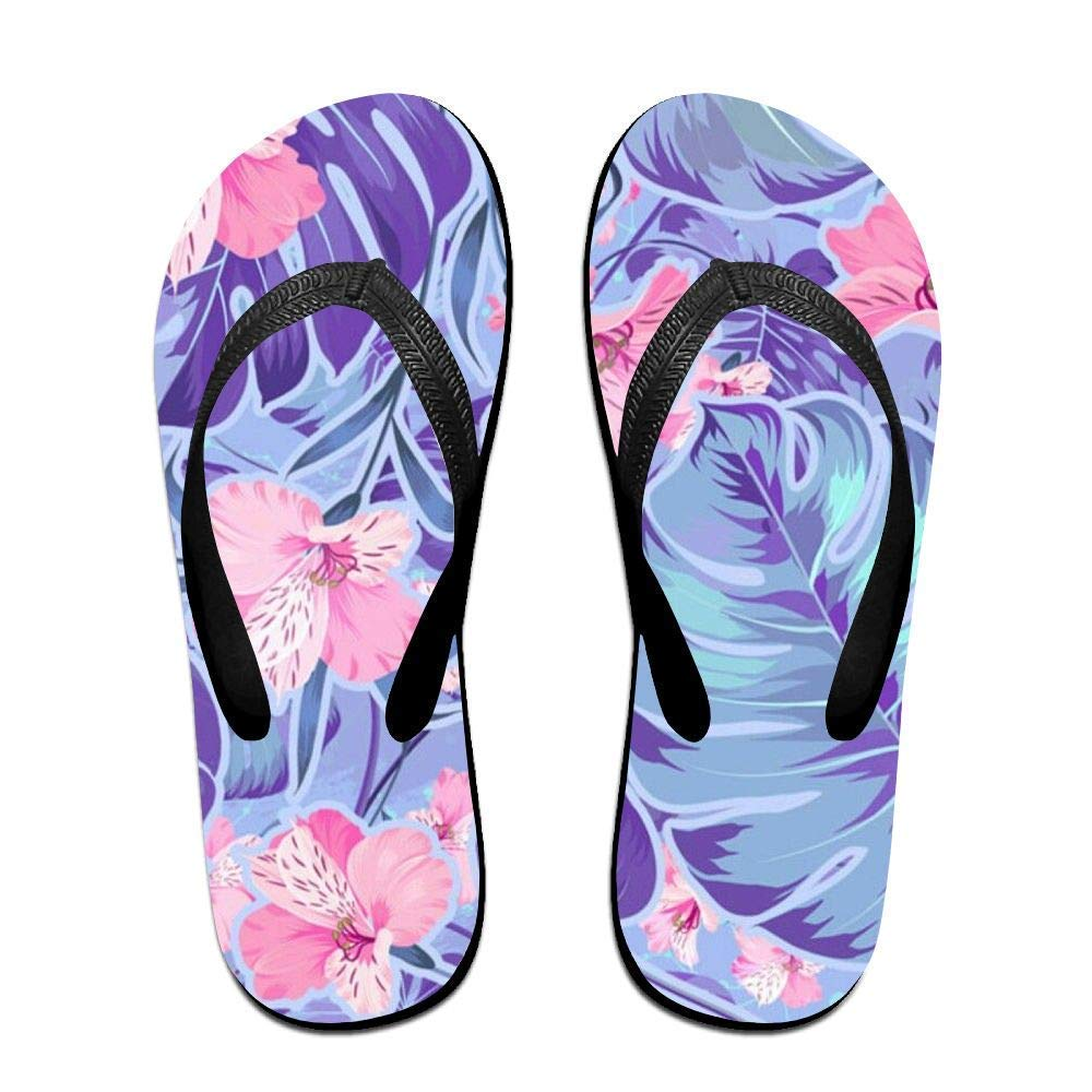 Amazon Fishines Flip Flops Purple And Pink Flowers Slippers For