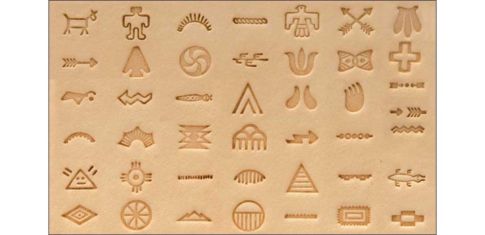 Tandy Leather Native American Symbol Stamp Set 8160-00 by Tandy Leather