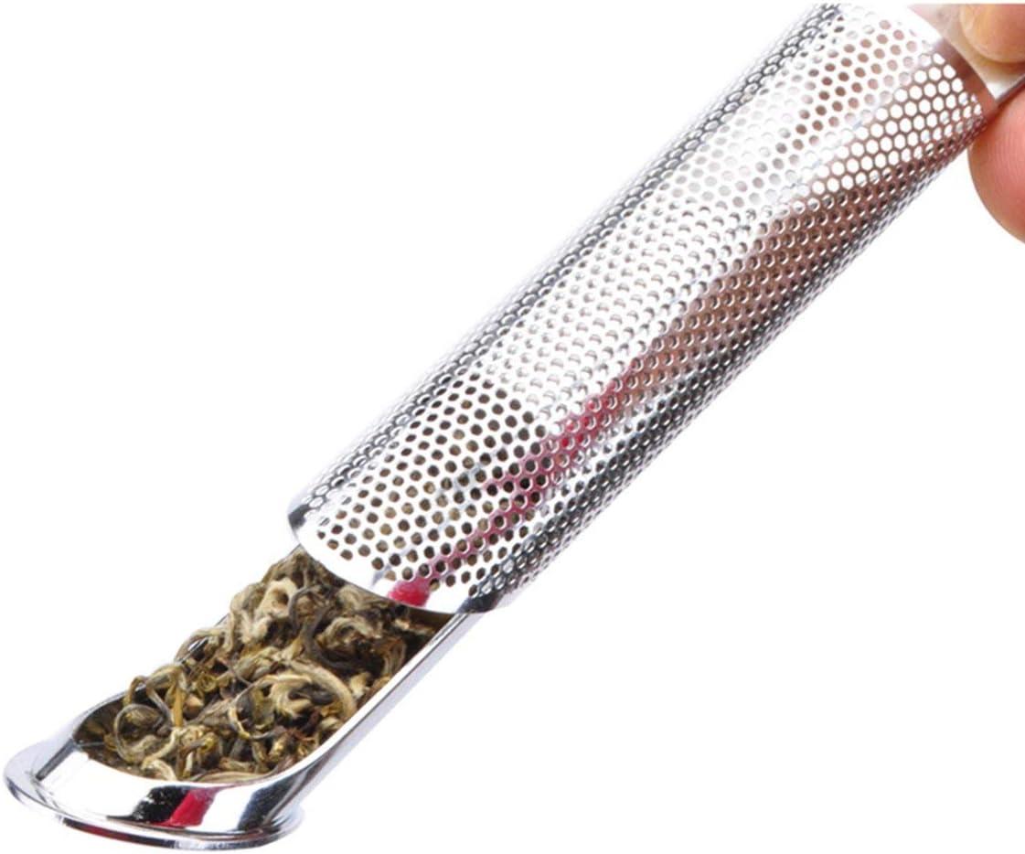 1 Pcs Stainless Steel Mesh Tea Infuser Tea Filter Premium Reusable Pipe Stick#^
