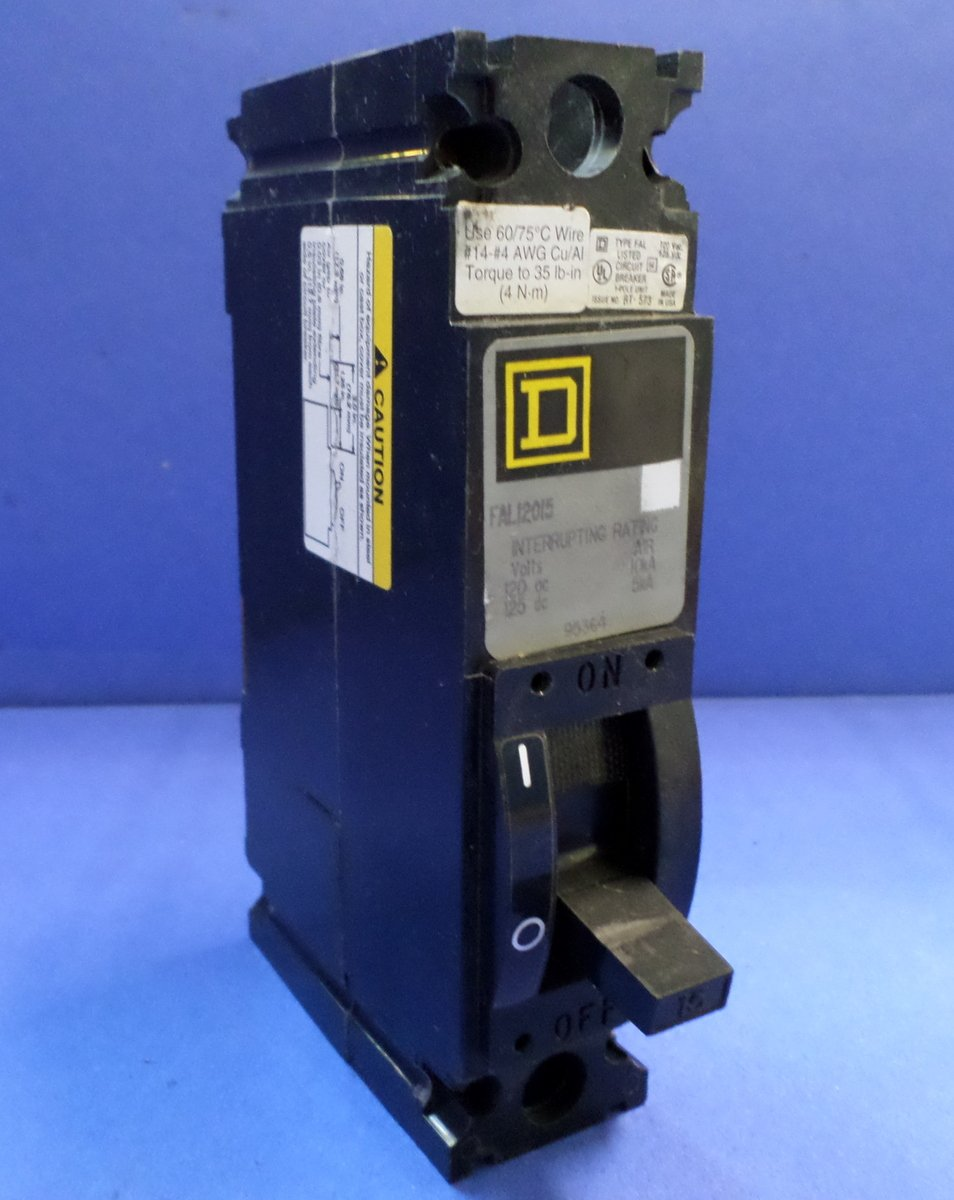 1p Standard Circuit Breaker 15a 120vac Cartridge Fuses Types Video Different Of Breakers Ehow