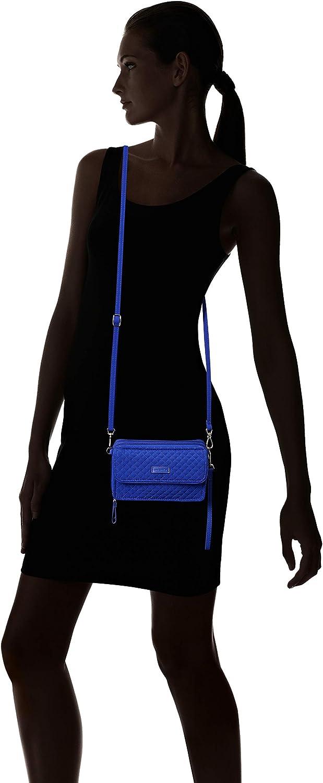 Vera Bradley - Iconic - All in One, borsa a tracolla in microfibra con protezione RFID Donna Gage Blue