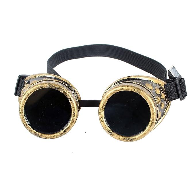Vintage Steampunk Goggles Gafas de soldadura Cyber Punk gótico Cosplay gafas: Amazon.es: Ropa y accesorios
