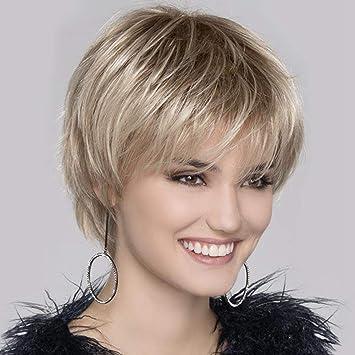Perucke Frauen Kurze Lockiges Haar Gradient Or Perucke Naturliche