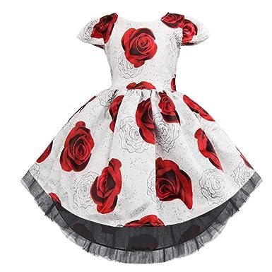 9bb425443d8e Boomboom Baby Girls Dress Toddler Kid Baby Girls Flower Print ...