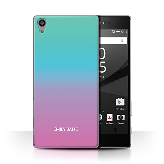 huge selection of dc213 09c82 Amazon.com: Personalized Custom Ombre Colours Case for Sony Xperia ...