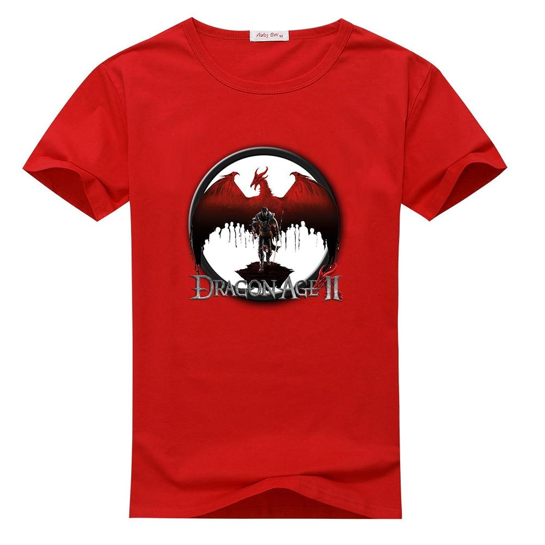 DreamaGail Men's Casual Graphic Print Vintage Dragon T-shirt