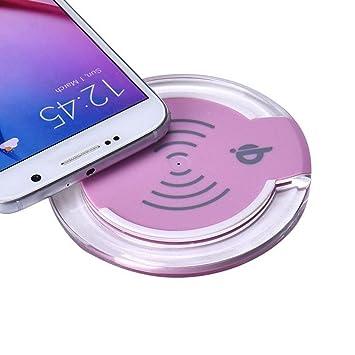 Malloom Qi cargador inalámbrico cargadores por inducción para Samsung Galaxy S7/S7 Edge (rosa)