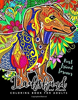 Dachshunds Go Around the World Colouring Book: Dachshund Colouring ...