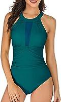 TcIFE Women's One Piece Swimsuits Tummy Control Swimwear Flattering High Waisted Monokini Bathing Suits for Women