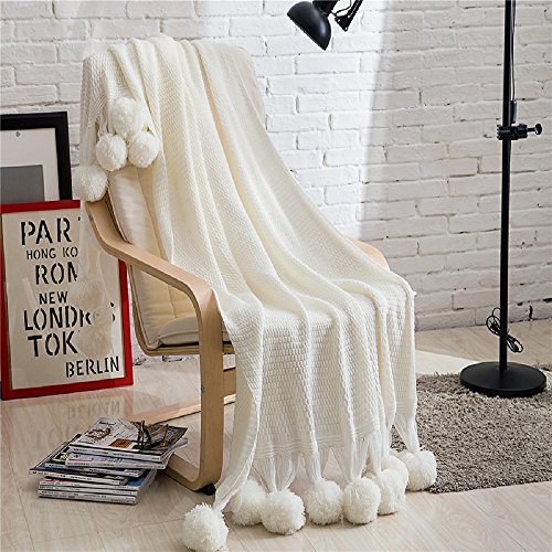 Knitted Blanket Polar Faux Fur Plush Dual Cable