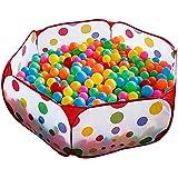 Piscine à Balles pour Enfants, Taotree Parc Pliable Aire de Jeu Pop-Up Océan Boule Piscine Portable Tente de Jeu avec Sac de Rangement Rouge(1m, océan piscine, pas de balles)