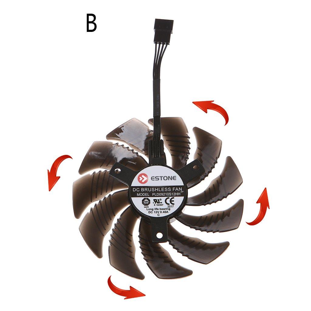 RingBuu PLD09210S12HH Graphics Card Cooling Fan For Nvidia Gigabyte Aorus-Anticlockwise