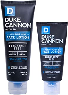 product image for Duke Cannon Supply Co. - Standard Issue Face Lotion, Unscented (Combo) Superior Grade Face Moisturizer Cream for Men - Scent Free