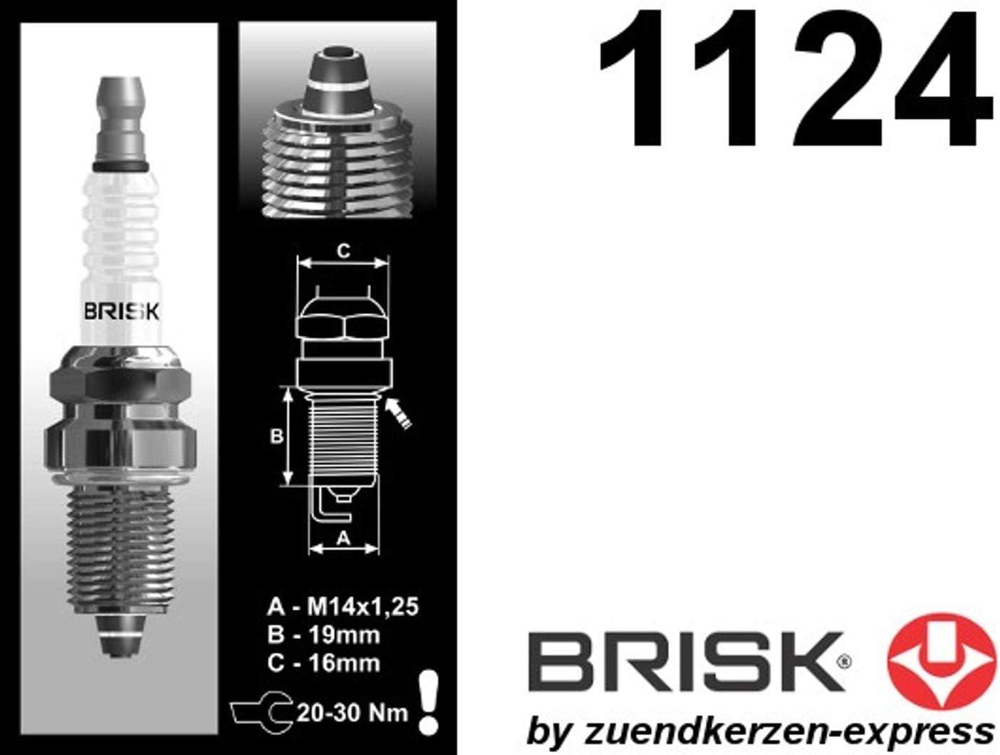 Brisk Premium Racing Dr14zc 1124 Zündkerzen 4 Stück Auto