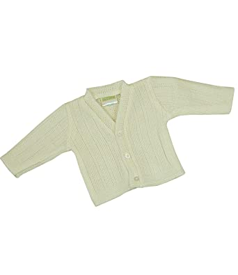87bd2908f3d2 BabyPrem Premature Baby Cardigan Jacket Knitted Acrylic 3-8lb CREAM ...