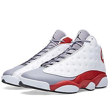 super popular b662e 28c94 Jordan Mens AIR JORDAN 13 RETRO White True Red Cement Grey Black 414571