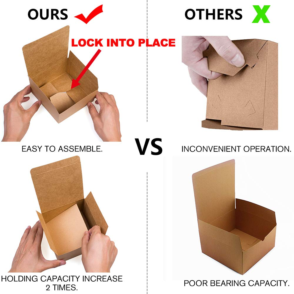 Gift ValBox Premium Gift Boxes 9x4.5x4.5 Inches 12 Pack Brown Recycled Paper Boxes Kraft Favor Boxes for Party Easy Assemble Boxes Cupcake Crafting Thanksgiving Wedding