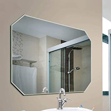 Amazon.com: Zhpijiep Wall-Mounted Bathroom Mirror Glass ...