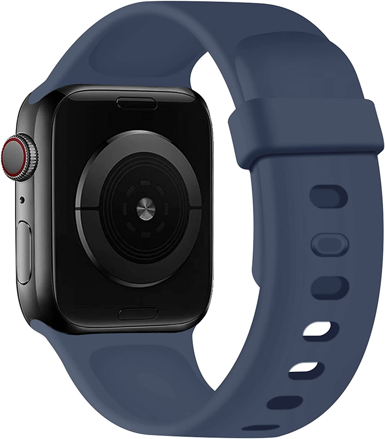 SVISVIPA Sport Bands Compatible with Apple Watch Bands 42mm 44mm, Soft Silicone Wristbands Women Men Replacement Strap for iWatch Series SE/6/5/4/3/2/1,Midnight Blue