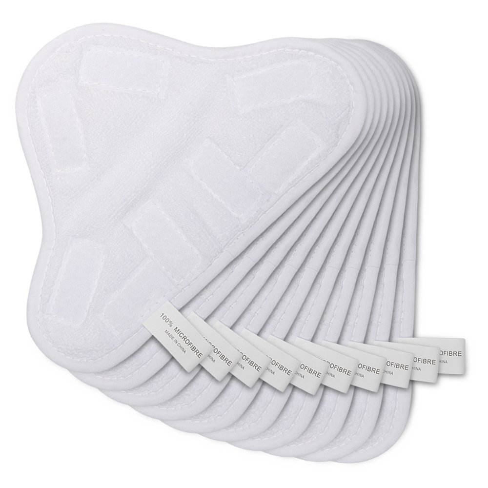 HIFROM TM New 10pcs Replacement Pads for H2O H20 X 5 Steam Mop Cleaner Floor Washable Microfibre Pads