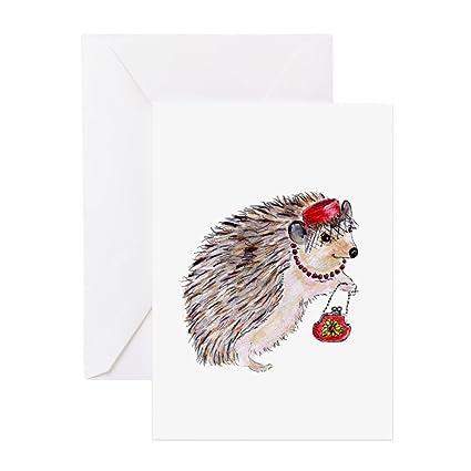 Amazon Cafepress Fashionista Hedgie Hedgehog Greeting Card