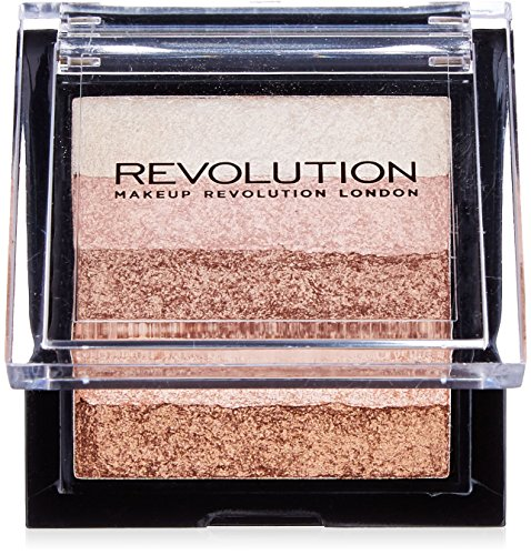 (Makeup Revolution Vivid Shimmer Brick Bronzer Highlighter, Radiant)