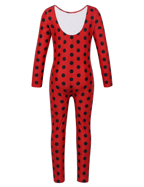 MSemis Disfraz de Mariquita para Niñas Cosplay Mono Ladybugs ...