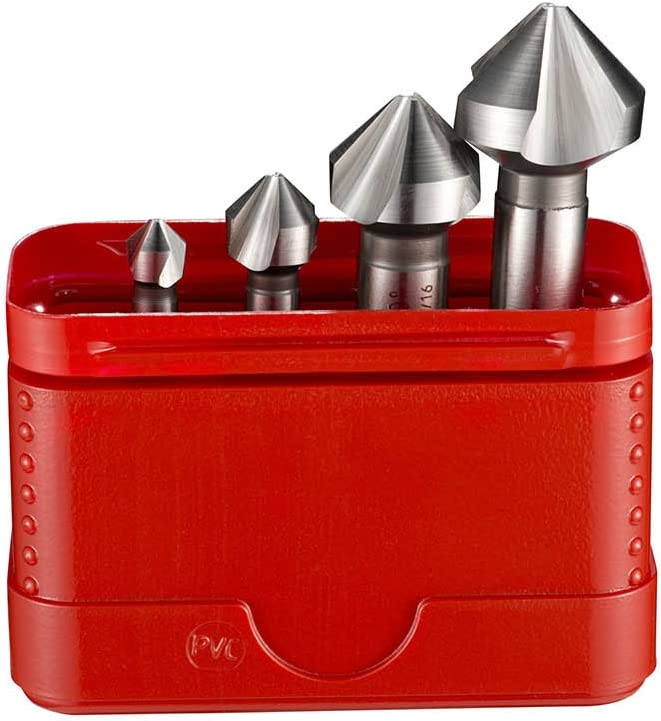 Dormer G2361 HSS High Speed Steel Countersink with 90 Degrees Angle Various Shapes Set of 6 pcs
