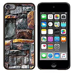 Jordan Colourful Shop - Wall Rustic Gold Grey Pattern Lines For Apple iPod Touch 6 6th Generation Personalizado negro cubierta de la caja de pl????stico