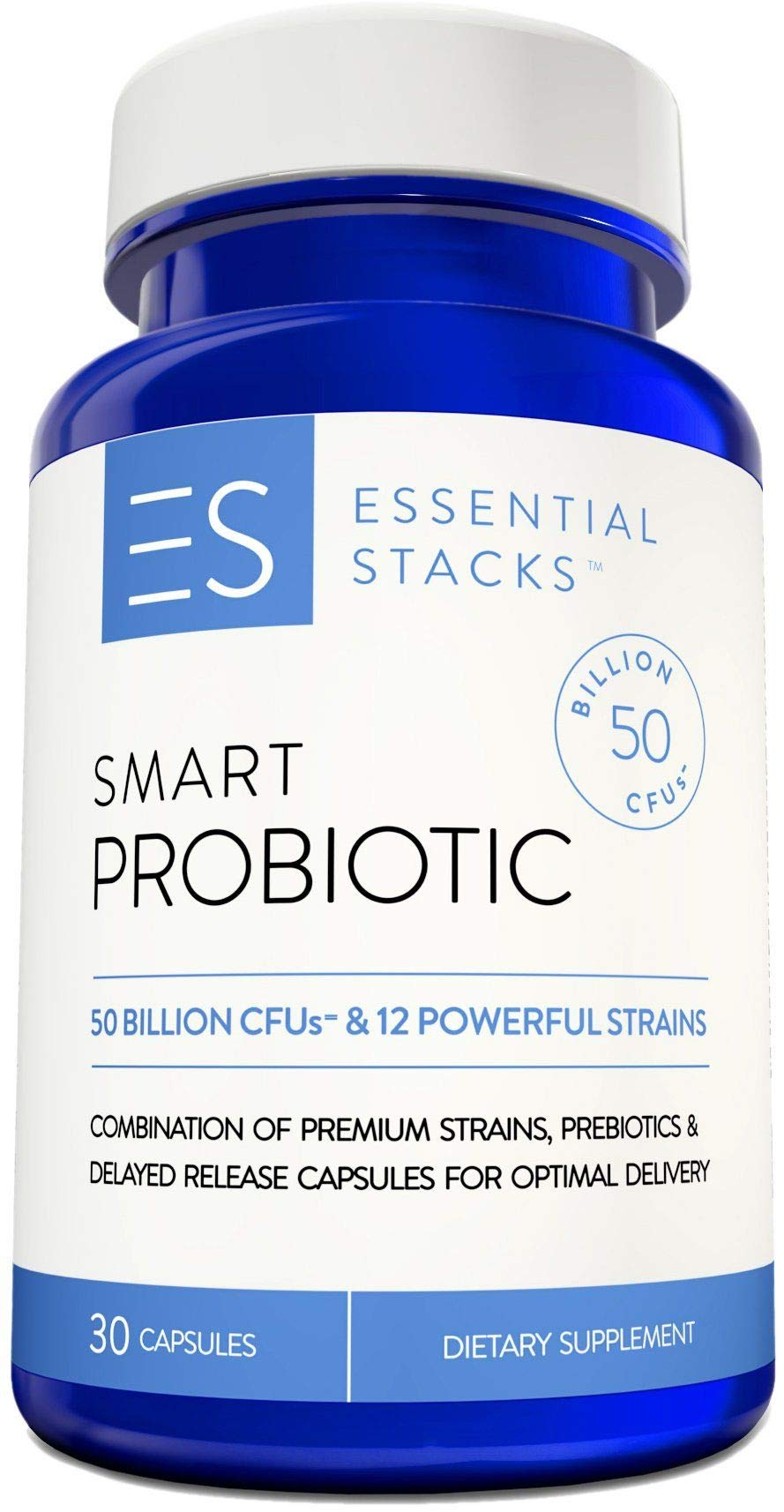 50 Billion Probiotic Supplement - With 12 Premium Strains, 250mg Prebiotics & Delayed Release Capsule Technology For Optimal Delivery. Refrigeration Optional