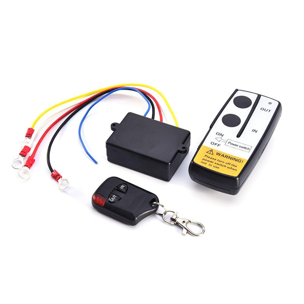 barhar 12 VワイヤレスリモートコントロールキットforトラックジープATVウインチ BARHAR B07BJ51TFL ブラック5 ブラック5