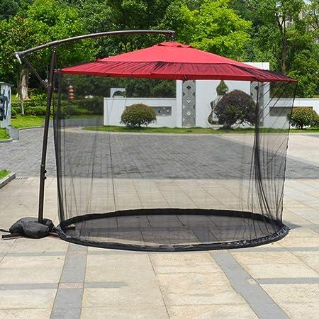 FCXBQ - Sombrilla de jardín al aire libre con apertura de cremallera y tubo de agua en la base para sujetar en su lugar, apto para cenadores, sombrillas, sombrillas: Amazon.es: Hogar