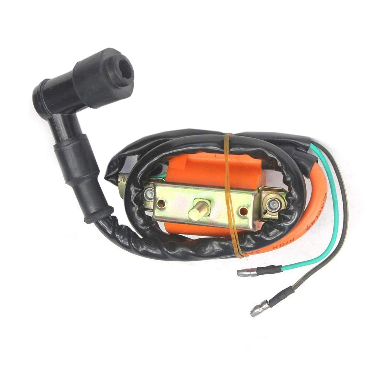 Triumilynn Ignition Coil for 50cc 90cc 110cc 125cc ATV Dirt Bike Quad Go Kart Buggy Orange