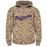 Majestic MLB Men's USMC Digi Camo Thermabase Hoodie (Large, Minnesota Twins)