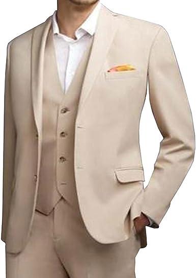 Amazon.com: pretygirl boda de 3 piezas hombres trajes para ...