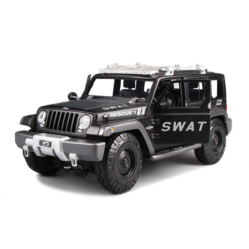 60% de descuento JIANPING Modelo de Coche Coche 1 18 Jeep Wrangler Wrangler Wrangler aleación de simulación de fundición de Juguete joyería joyería de colección de Coche Deportivo joyería 24x10.5x10.5 CM Auto Modelo  Ahorre hasta un 70% de descuento.