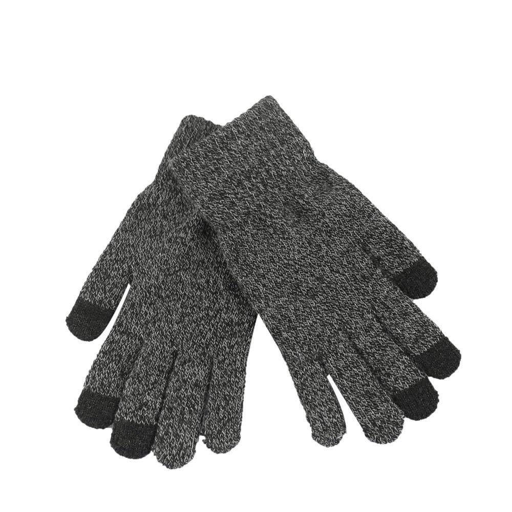 Women Men Multi-Function Knitted Screen Winter Gloves Soft Warm Mitten for iPhone Smartphones Laptop Tablet (Darkgray)