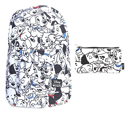 Loungefly 101 Dalmatians All Over Print Backpack And Pencil Case School Bundle Set
