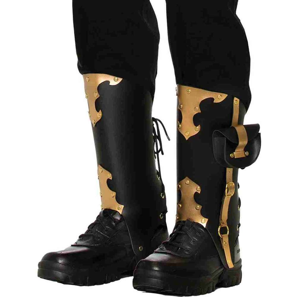 Forum Novelties Men's Deluxe Adult Pirate Boot Covers with Studs