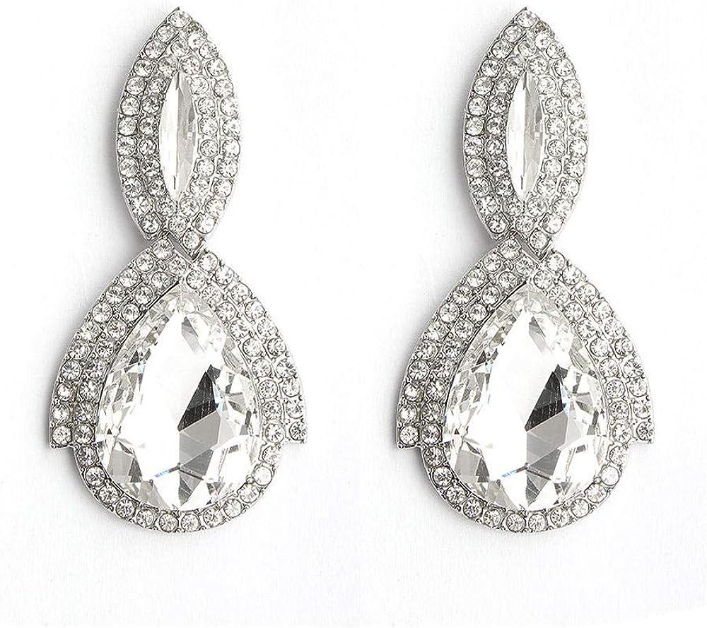 Pendientes Pendientes Pendientes Pendientes exagerados Aleación Pendientes de piedras preciosas Pendientes de diamantes de imitación Pendientes vintage