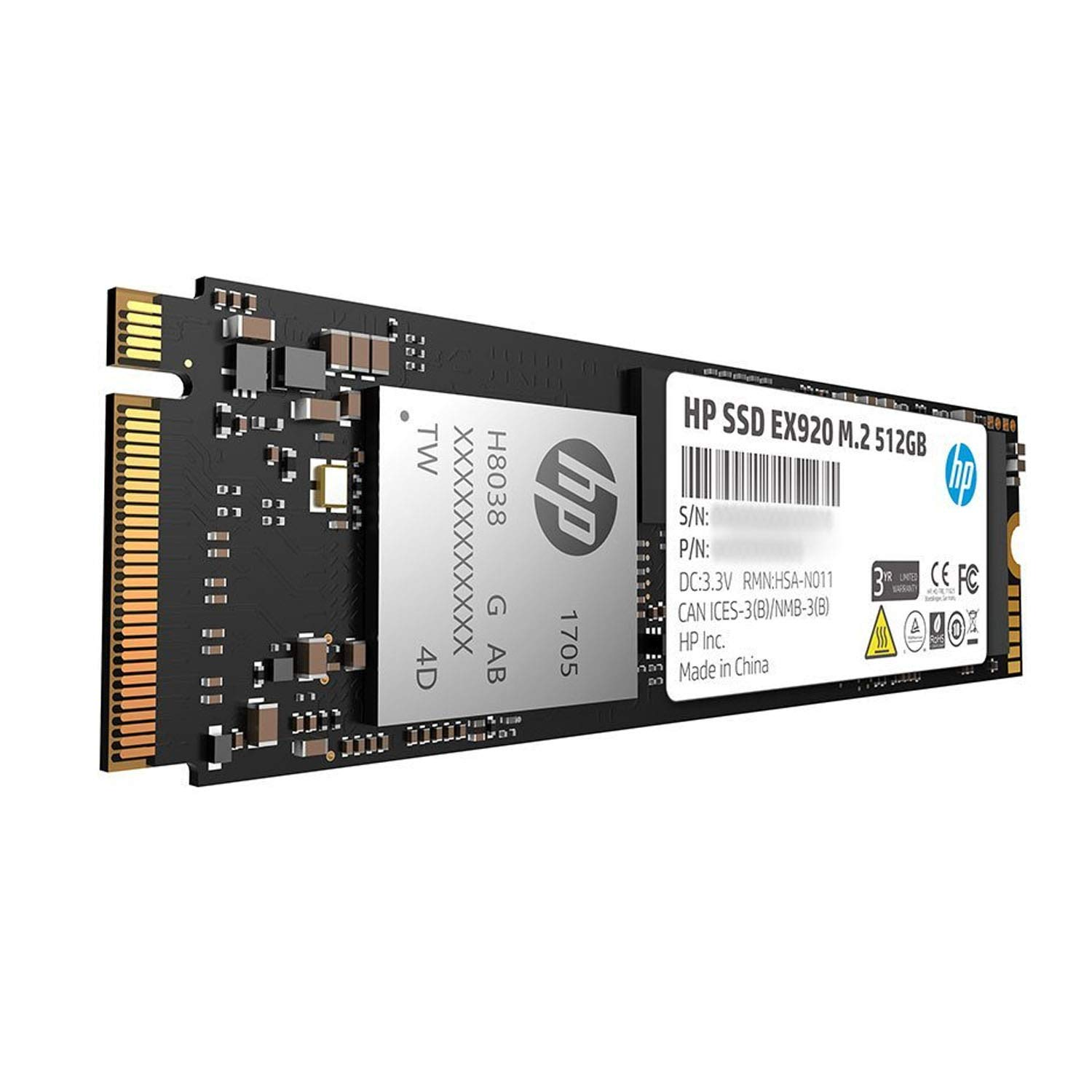 HP EX920 M 2 512GB PCIe 3 1 x4 NVMe 3D TLC NAND: Amazon in